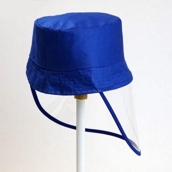 Palarie cu vizor de protectie culoare albastru