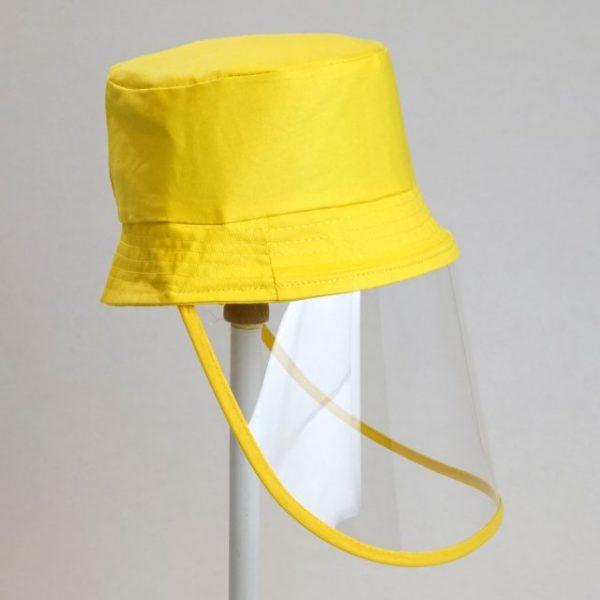 Palarie cu vizor de protectie culoare galben