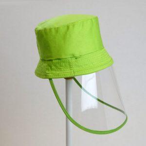 Palarie cu vizor de protectie culoare verde