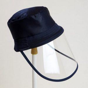 Palarie cu vizor de protectie culoare albastru inchis